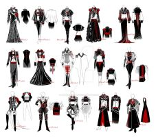 Art military costumes designs by Alzheimer13