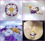 Final Fantasy Moogle Charm Pendant by Tsurera