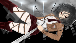 Mikasa Attack on titan by AoiKen