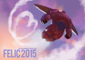 Big Hero 6 - Baymax- Happy new year! by VictorGarciapq