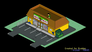 Apu and the Quick-E-Mart by kruxor