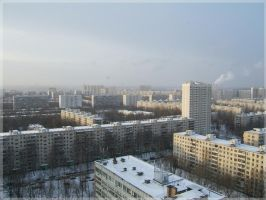 Winter day cityscape by mirator