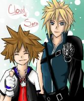 Cloud and Sora by LxMisaMisaxL