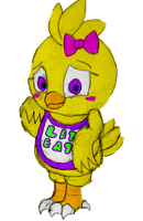 Baby Chica: ''I daught I saw a secuwiddy gauwd!'' by Jaders75