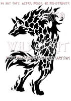 Alert Magma Wolf Design by WildSpiritWolf