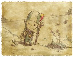 Thomas the Leap Year sketching Elf 13 by D-Gee