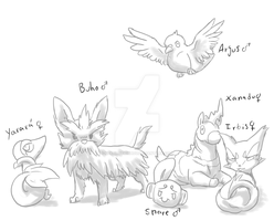 Pokemon White- The 'Team' by nekonotaishou