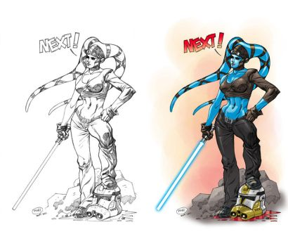 Aayla Secura Art Jam by pipin