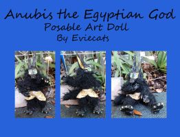 Anubis The Egyptian God Posable Art Doll by Eviecats