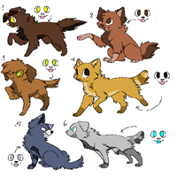 Canine Adopts {2/6 OPEN} by AvalaAdopts