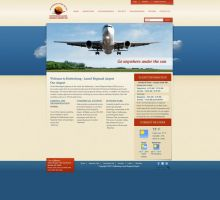 Hattiesburg Laurel Regional Airport Website by HappyCatfishWeb