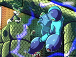 Mega man VS Snake Man by Seonidas