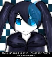 Black Rock Shooter's Passport by marvyanaka