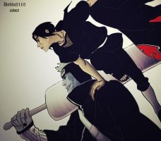 Itachi and Kisame by Delila2110