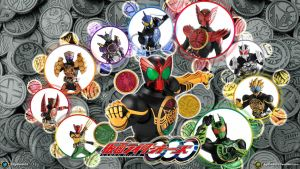 Kamen Rider OOO Wallpaper by egallardo26