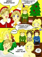 Merry Christmas Happy New Year and Happy Birthday? by AmaiRin