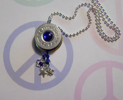 Shotgun Shell Cobalt Pendant by mymysticgems