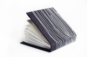 Black and silver mini sketchbook by corelila
