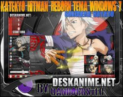 Gokudera Hayato Theme Windows 7 by Danrockster