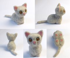 Needle felted cute Kitty by Sofakitty