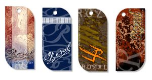 Rozal hang tag samples by jonthander