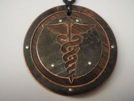 Caduceus Pendant by jeanburgers