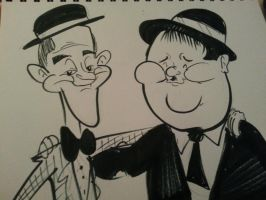 Laurel and Hardy by JustoonSmitts