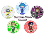 Dramatical Murder Button Set by BlackRoseMikage