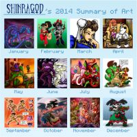 Shinragod 2014 Summary of Art by shinragod