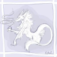 Blue Sergal Tea by Rose-Lynx