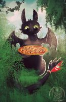 Toothless likes fish on pizza too by SunDragon-44