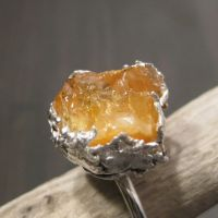 Sunshine Amber ring by Jealousydesign