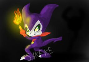 Impmon speedpaint by Sakeke