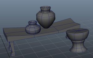 Egyptian Drum and Table from Maya by BrandonSPilcher