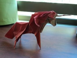 Origami Unicorn Roman Diaz by Lontuku