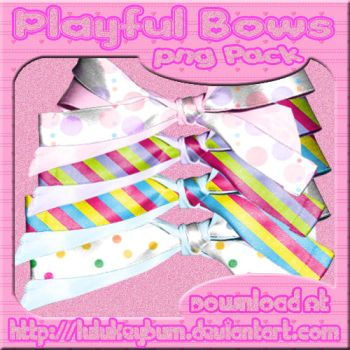 Playful Bows PNG Pack by LuluKeybum