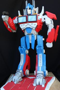 Optimus Prime Color Base Coat (Unfinished) by RamageArt