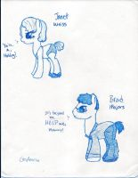 Brad and Janet Pony Sketches by GreyAneria