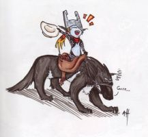 Midna goes wild west by Jacyll