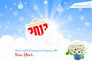 New year greeting e-card by robrein