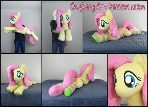 45in laying Fluttershy by qtpony