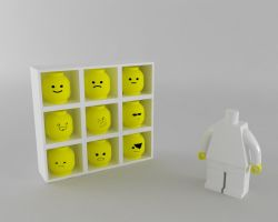 lego head by lektracer