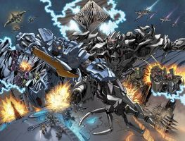 Defiance 4 Double Page Spread by glovestudios