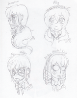 SKETCH DUMP: All The Fabulous Baes by InvaderIka