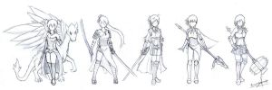 SAO Girls Ver. Tomo (Rough Sketch) by kevz10