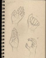 Sketchbook #1 - Hands by Ariah101