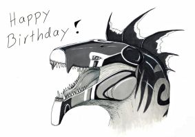 Happy B-Day Black-wing! by Dreikaz