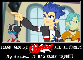 Flash Sentry Ace Attorney FOR REAL by Author-Bat-Pegasus