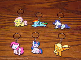 Chibi Pony Keychains by Clawed-Nyasu