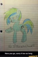 A drawing one of my subs did for me :)  by brandonthebeast34